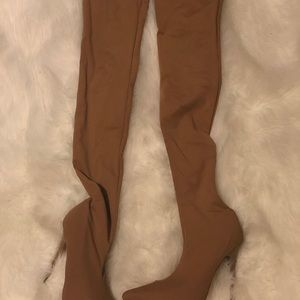 Shoes - Nude Thigh High Boot (Never worn)